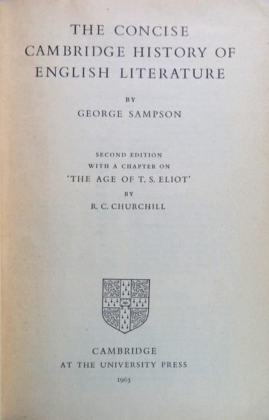 Image result for george sampson cambridge history of english literature + images