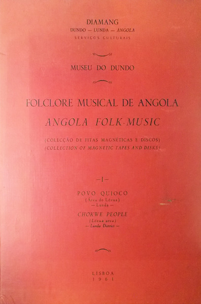 Folclore Musical De Angola Angola Folk Music Good Hard Cover