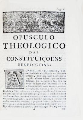 OPUSCULO THEOLOGICO DAS CONSTITUIÇÕES,: SECO FERREIRA. (Luís)