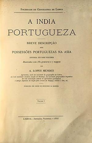A INDIA PORTUGUEZA.: LOPES MENDES. (António)
