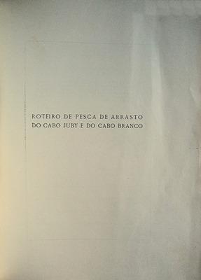 ROTEIRO DE PESCA DE ARRASTO DO CABO: GORMICHO BOAVIDA. (Joaquim)