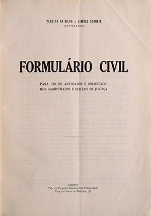 FORMULÁRIO CIVIL.: PEREIRA DA SILVA