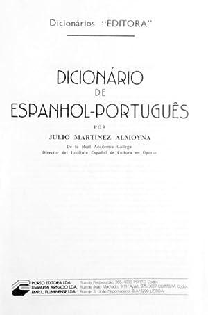 DICIONÁRIO DE ESPANHOL-PORTUGUÊS.: MARTÍNEZ ALMOYNA (Julio)