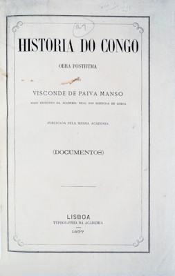 HISTORIA DO CONGO.: PAIVA MANSO. (Levy