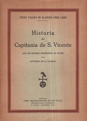 HISTORIA DA CAPITANIA DE S. VICENTE.: ALMEIDA PAES LEME