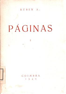 PÁGINAS. [I Volume]: ANDRESEN LEITÃO. (Ruben)
