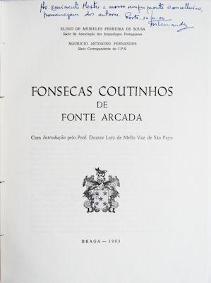 FONSECAS COUTINHOS DE FONTE ARCADA: FERREIRA DE SOUSA