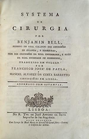 SYSTEMA DE CIRURGIA: BELL, Benjamin.