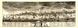 GRAVURA PANORÂMICA DE LISBOA NO SÉC. XVII-XVIII.: SCHOENEMAM.Friederich