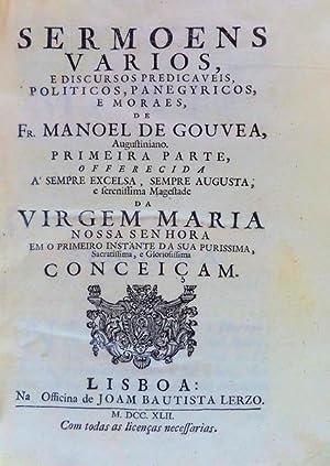 SERMOENS VARIOS,: GOUVEIA, Frei Manuel