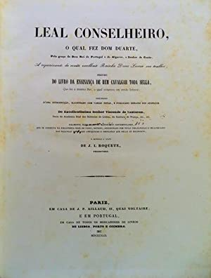 LEAL CONSELHEIRO, O QUAL FEZ DOM DUARTE,: DUARTE, (D.) Rei