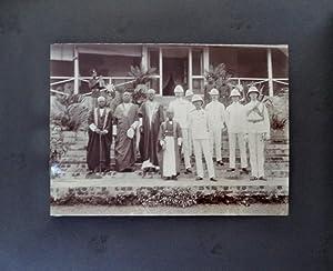 PHOTO ALBUM WITH 48 PHOTOGRAPHS & PHOTOPRINTS FROM PORT SAID, ADEN, ZANZIBAR AND UGANDA.