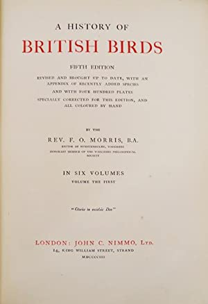 A HISTORY OF BRITISH BIRDS.: MORRIS. (Francis Orpen)