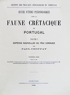 RECUEIL D'ÉTUDES PALÉONTOLOGIQUES SUR LA FAUNE CRÉTACIQUE: CHOFFAT. (Paul)