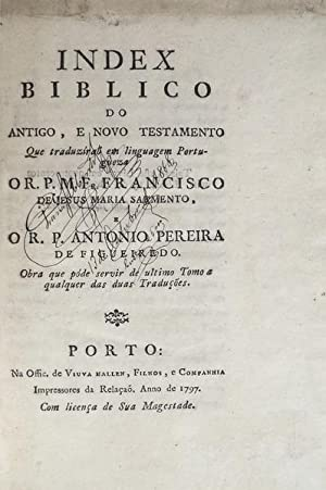INDEX BIBLICO: SARMENTO, Francisco de