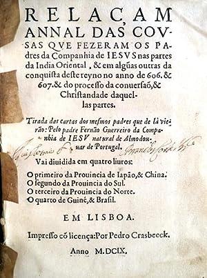 RELAC,AM ANNAL DAS COVSAS QVE FEZERAM OS: GUERREIRO, Fernão.