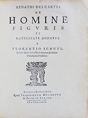 DE HOMINE Figuris et Latinitate Donatus a: DESCARTES, René.
