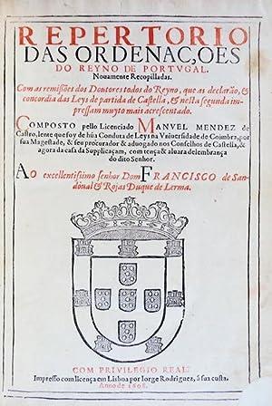 REPERTORIO DAS ORDENAC,OES DO REYNO DE PORTUGAL.: MENDES DE CASTRO,