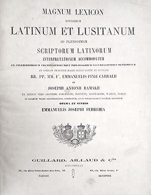 MAGNUM LEXICON NOVISSIMUM LATINUM ET LUSITANUM: PINA CABRAL. (Frei