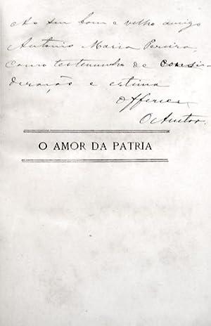 O AMOR DA PATRIA.: GOMES DE AMORIM.