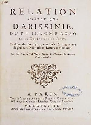 RELATION HISTORIQUE D'ABISSINIE.: LOBO, Jerónimo.