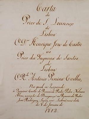 CARTA DO PRIOR DE S. LOURENÇO DE