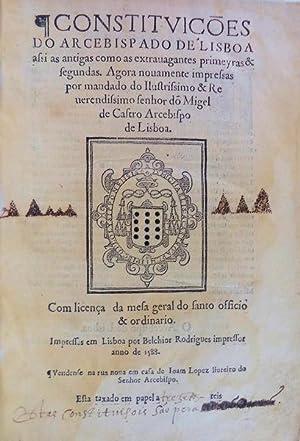 CONSTITVIÇÕES DO ARCEBISPADO DE LISBOA