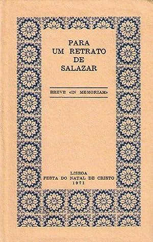 PARA UM RETRATO DE SALAZAR.: FREITAS DA COSTA.