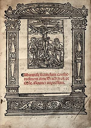 Manuale secundum consue=   tudinem alme Brachareñ.: GALHARDO, Germão.