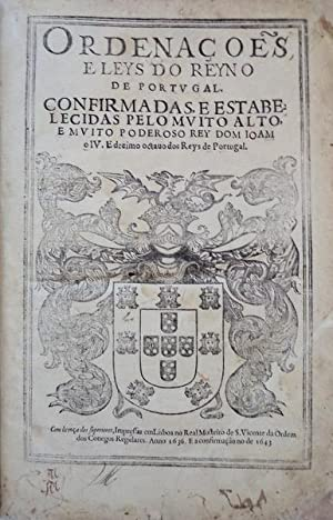 ORDENAÇÕES E LEYS DO REYNO DE PORTUGAL