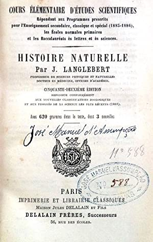 HISTOIRE NATURELLE.: LANGLEBERT. (J.)