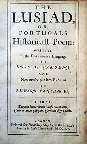 THE LUSIAD, OR PORTUGALS Historical Poem: [FIRST: CAMÕES, (Luís de).