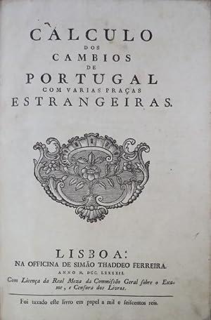 CALCULO DOS CAMBIOS DE PORTUGAL COM VARIAS