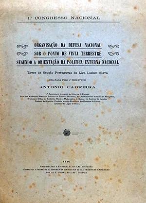 ORGANIZAÇÃO DA DEFESA NACIONAL SOB O PONTO: CABREIRA. (António)