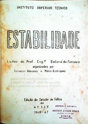 ESTABILIDADE - LIÇÕES DO PROF. ENGº BELARD: ABECASIS. (Fernando). Mário