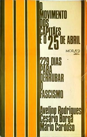 O MOVIMENTO DOS CAPITÃES DE ABRIL: 229: RODRIGUES. (Avelino), Cesário