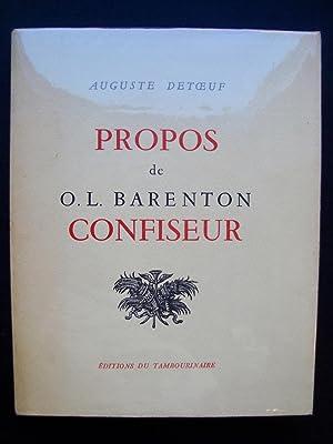 Propos de O.L. Barenton confiseur -: DETOEUF (Auguste) -