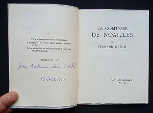 La Comtesse de Noailles -: GREGH (Fernand) -