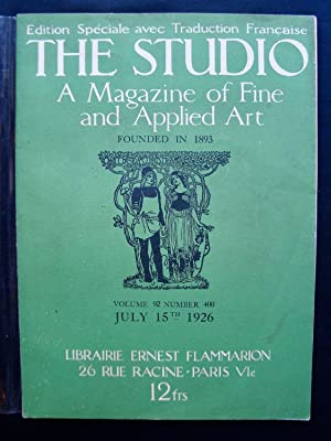The Studio - A Magazine of fine and applied art - Vol. 92 - Number 400 - July 15th 1926 - Edition...