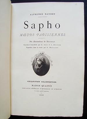Sapho - Moeurs parisiennes -: DAUDET (Alphonse) - REJCHAN (Stanislaw) -