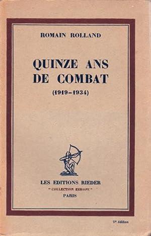 Quinze ans de combats (1919 - 1934): Rolland Romain
