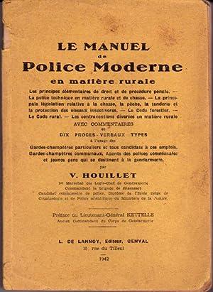 Le manuel de police moderne en matière: Houillet V.