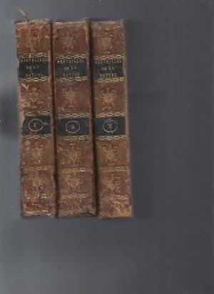 Dictionnaire des Merveilles de la Nature en 3 volumes.: A.J.S.D Sigaud Delafond