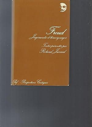 Freud : jugements et témoignages: Roland Jaccard