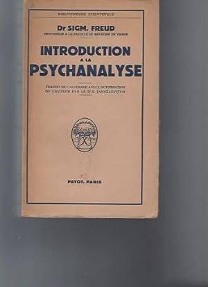 Introduction à la psychanalyse: Dr Sigmund Freud