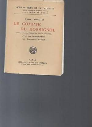 Le Compte du rossignol réimpression de l'édition: Gilles Corrozet