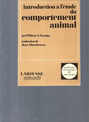 Introduction à l'étude du comportement animal