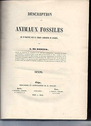 Description des Animaux Fossiles qui se trouvent: L. De Koninck