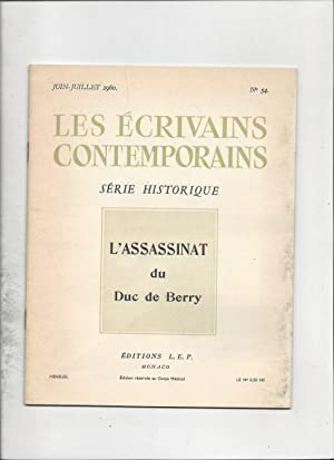 L'assassinat du duc de berry