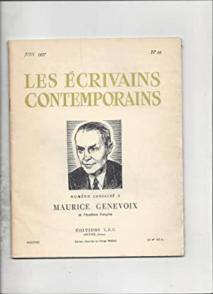 Numero consacre a maurice genevoix